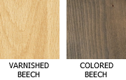 Available wood colors