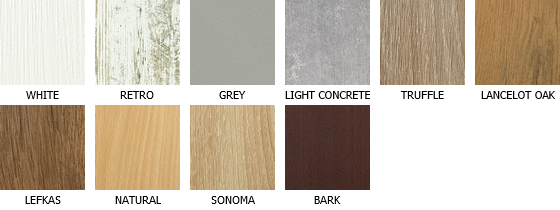 Colors of laminate