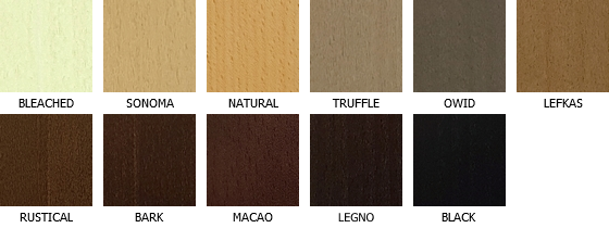 Colors of veneer